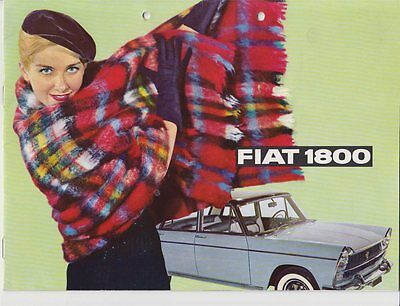Fiat 1800 Prospekt 1960  deutscher Text