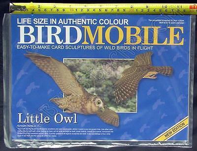Bird Mobile Card Model Sculpture Grey Wagtail