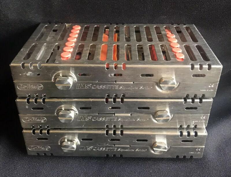 (3) Hu-Friedy IMS Signature  Double-Decker 14-Instrument Sterilization Cassettes