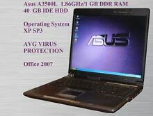 Asus A3500L  1.86GHz/1 GB DDR RAM/40  GB IDE HDD/WIN XP SP3 St Marys Penrith Area Preview