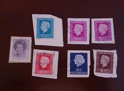7 Stamps - Nederland Netherlands - Queen Juliana Regina - USED