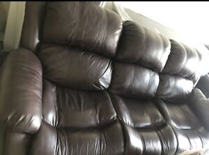 2 Leather couches - 3 seater each