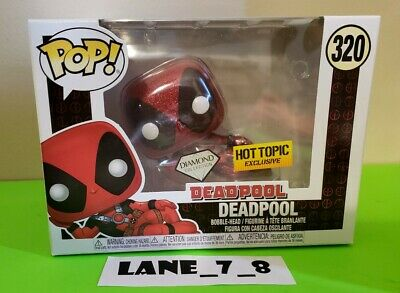 Funko Pop! Marvel Deadpool Diamond Collection Hot Topic Exclusive #320 New