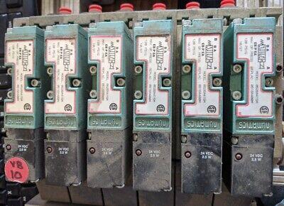 Lot Of 6 Numatics Pneumatic Valve 062ba415m With Manifoldbase 24v