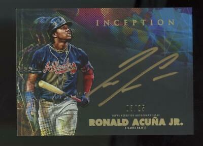 2020 Topps Inception Gold Ink Ronald Acuna Jr 03/25 Auto Autograph