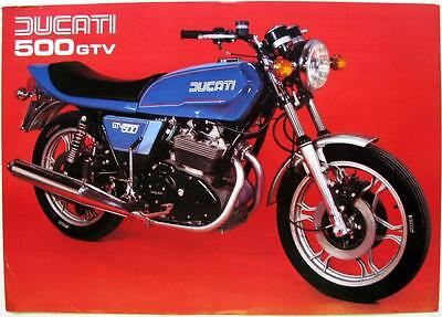 DUCATI 500 GTV  - Motorcycle Sales Spec Sheet - 1980s