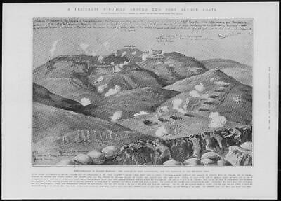 1904 Antique Print - PORT ARTHUR hand Grenades Forts Fort Namakoyama  (295)