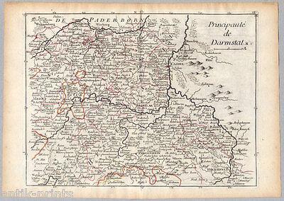 Darmstadt - Hessen - Karte aus Atlas Portatif - Le Rouge 1759 - Map