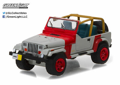 Greenlight 1:64 Hobby Exclusive 1993 Jeep Wrangler YJ - Red and Grey