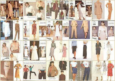 OOP Vogue Designer Calvin Klein Sewing Pattern Misses Size You Pick