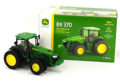2020 FARM SHOW ED = ERTL 1:64 JOHN DEERE 8R 370 TRACTOR w/DUALS *PRESTIGE* NIB