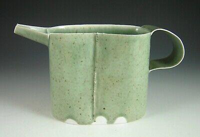 PHILIP CORNELIUS HANDMADE PORCELAIN THIN -WARE CELEDON PITCHER ART POTTERY Handmade Art Pottery