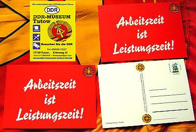 3 Postkarten - Arbeitszeit ist Leistungszeit