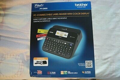 Brother P-touch Pt-d600 Pc-connectable Label Maker W Color Display Brand New