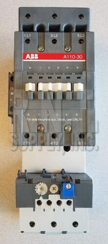 ABB A110-30 110A 1000V Max 3P Contactor w/ 120VAC Coil & 80-110A Overload Relay
