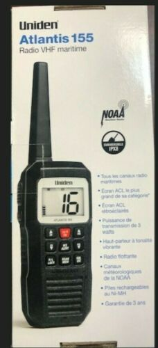 Uniden Atlantis 155 Floating Handheld VHF Marine Radio BRAND NEW LOW $$