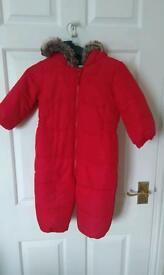 Used unisex snowsuit from Next, size 12-18 months
