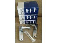 3 pairs of Stretton satin chrome door handles, new in box