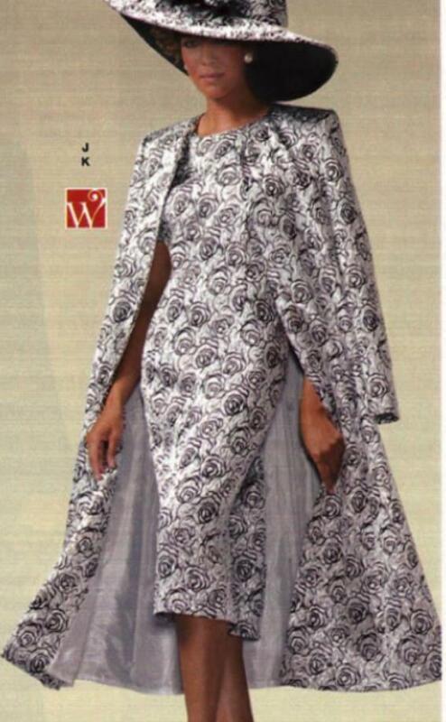 size 8 Silver Black Jacquard Woman Formal Suit Ashro Evening Duster Jacket Dress