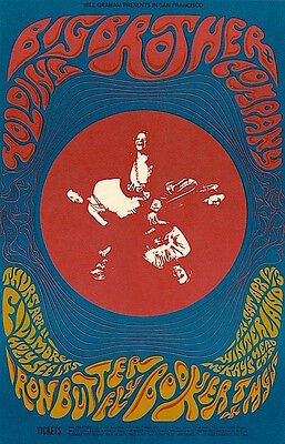 MINT Janis Joplin Big Brother Iron Butterfly 1968 BG 115 Fillmore Card