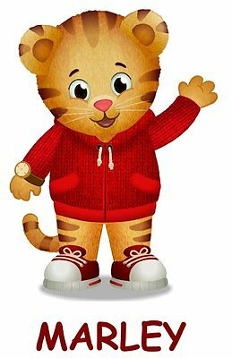 **********DANIEL TIGER*****PERSONALIZED W/UR NAME*FABRIC *SHIRT IRON ON TRANSFER - Daniel Tiger Fabric