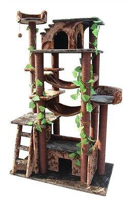 "AMAZING 46x25x78"" Kitty CAT TREE CONDO Scratching Post HUGE Cat Kitten Homes"