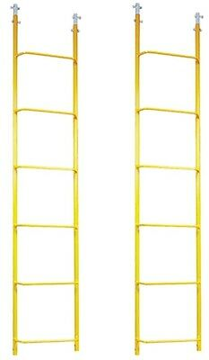 Qty 2 Acro 11601 - 6 Steel Chicken Roof Ladder - Roofing Equipment