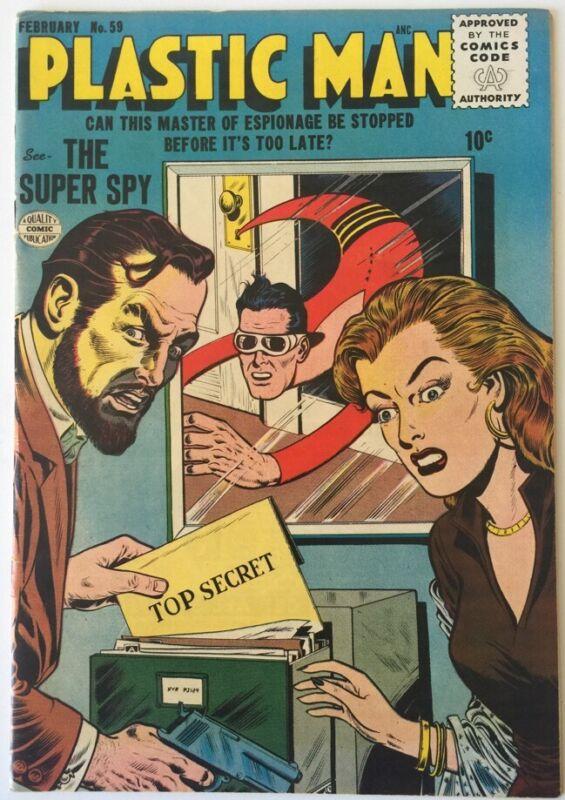 Plastic Man #59 Quality Comics Feb 1956