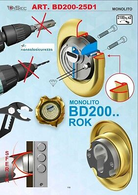 DISEC BD200 DEFENDER BD200-25D1 SERRATURA PORTA BLINDATA EUROPEO VARIE FINITURE