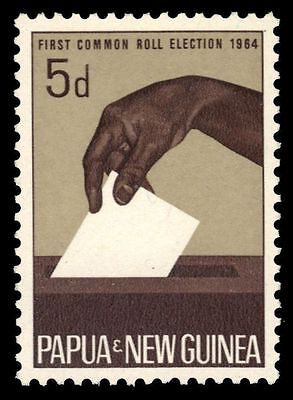 PAPUA NEW GUINEA 182 (SG55) - Common Roll Elections (pf3994)