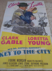 KET-TO-THE-CITY-MOVIE-POSTER-3-SHEET-1950-ORIGINAL-FOLDED-41x81-CLARKE-GABLE