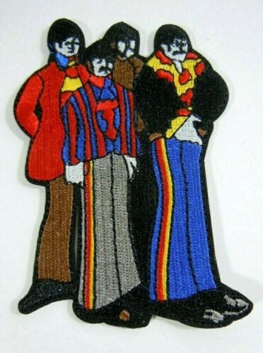 The Mod BEATLES Figures - Yellow Submarine -Embroidered Iron-On Patch - 3 1/2""