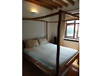 Four Poster Bed - wonderful unusual design, African wood
