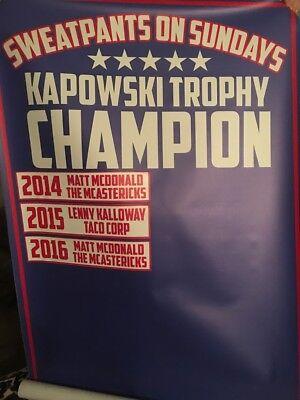 Custom Fantasy Football Championship League Champion Banner - Removable Years - Fantasy Football Banner
