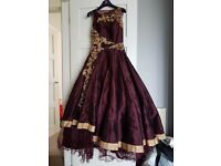 Burgundy Ball Gown / Dress