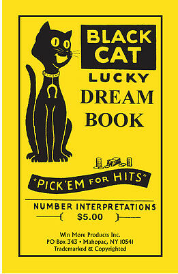 Black Cat Lucky Dream Book   Lottery Book   Numerology Guide