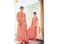 New Indian Asian Pakistani semi stitched wedding party bollywood dress embroidery suit