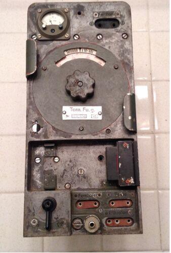 Original but incomplete WWII German Torn Fu G radio