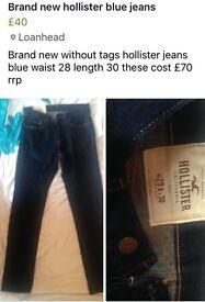 Teen boys jeans including hollister