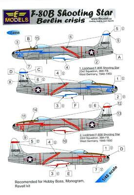LF Models Decals 1/48 LOCKHEED F-80B SHOOTING STAR BERLIN CRISIS w/ Paint Masks for sale  USA