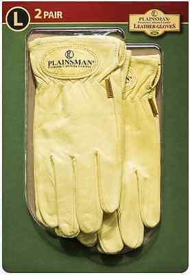 Plainsman 2 Pair Premium Cabretta Leather Gloves Small Medium Large Extra Large