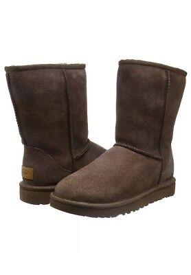 New Womens UGG Australia Classic II Short Boots Chocolate Size UK3.5 EUR36 US5