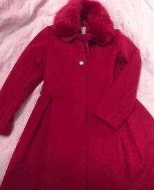 Beautiful dark pink Monsoon coat