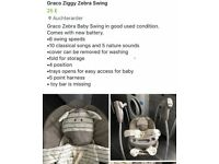 Graco Zebra Swing