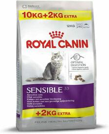 Royal Canin Cat Sensible 33 10kg + 2kg FREE =12kg!