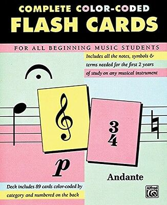 Complete Color Coded Flash Cards For All Beginning Music Students  New