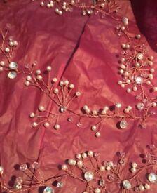 Rose gold hair vine accessory