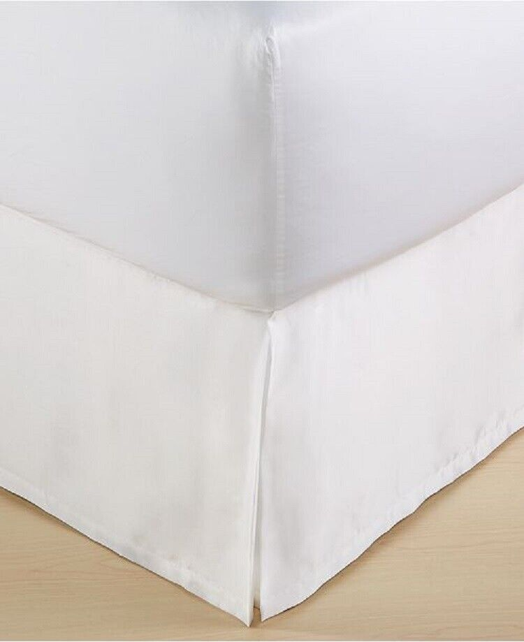 NEW Hotel Collection Finest Crescent White KING Bedskirt Bed Skirts