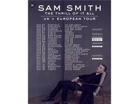 Sam Smith tickets - LONDON 02 Saturday 7th April 2018