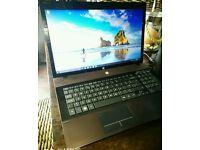 Hp pro windows 10 intel i5 latop 17 inch screen